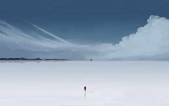 человек, минимализм, desktop, click, облака, landscapes, пустошь, download, photos, salt, like, tastes, cover, зима, горы,