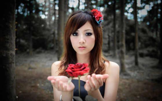 девушки, азиатка, красивые