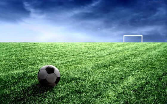поле, футбольное, rent, мяч, варота,