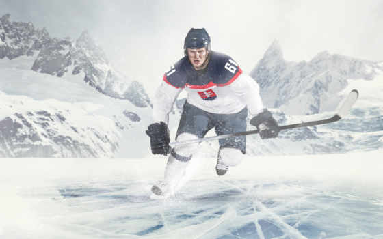 хоккеист, спорт, льду, лед, хоккеисты, проигрыватель, фоны, озеро, метки, том,
