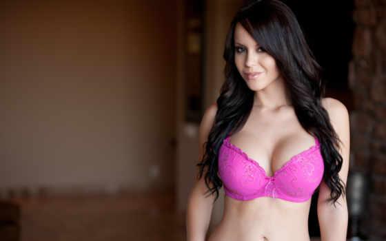 lingerie, бюст, грудь, розовое бель,