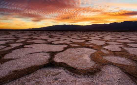 смерть, долина, salt, park, national, пустыня, usa, небо,