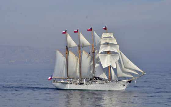 esmeralda, корабль, barco, pantalla, планшетный, white