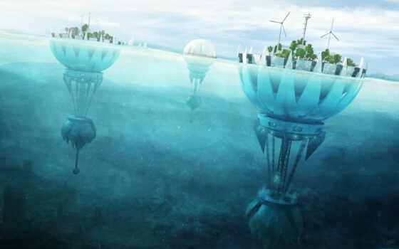 water, futuristic, ipad, architecture, city, apple, artwork, underwater, sea, future, science, under, back, find, mac, search, ground, fiction, island,
