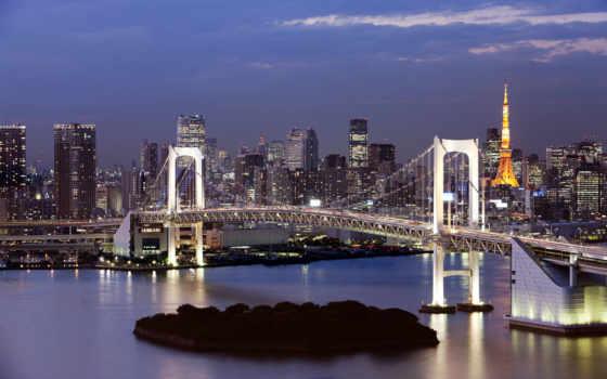 tokyo, радуга, мост