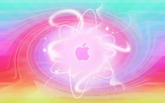 apple, logo, blur