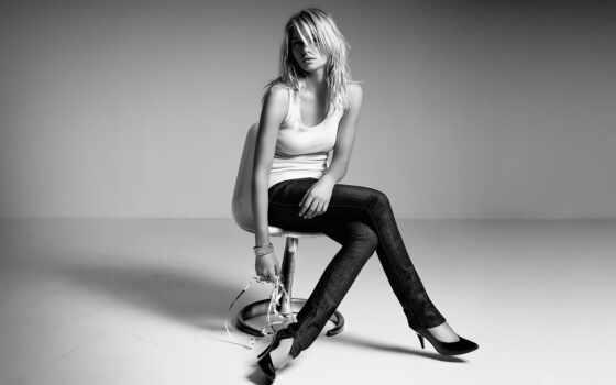 чёрно, blonde, hart, девушка, джессика, белая, кресло, white, лицо, белое, сидит,
