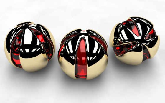 шары, трио, deviantart, золотистый, spheres, glossy, bolas, art,