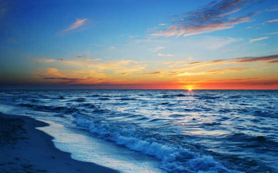 море, sun, красивые, тусклое, зимнее, рисованные,
