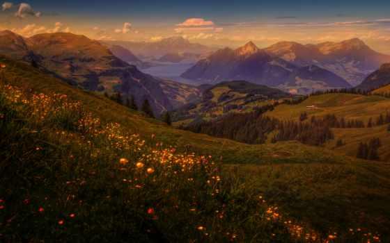 montañas, fondos, pantalla, paisaje, suiza, naturaleza, ríos, fotos, fotografía,