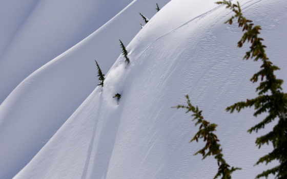 winter, snowboard