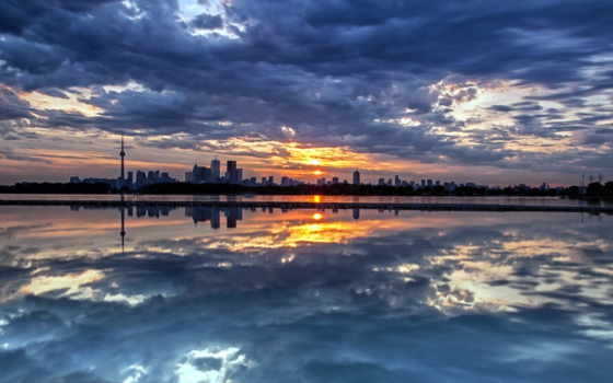небо, город
