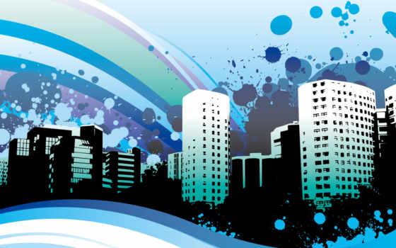 абстракция, город, дата, картинку, добавления,