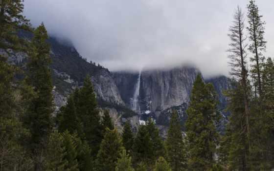 горы, природа, flickr, сша, tapety, трава, sun, landscape, парки, yosemite,