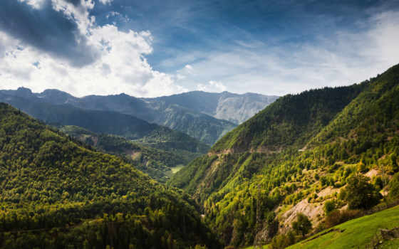 горы, грузии, грузия, landscape, природа, лес, отдых, забор,