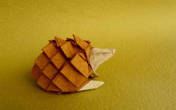 оригами, ежик, perez, бумага, flickr,