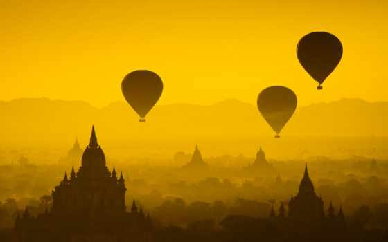 balloon, баган, hot, air, myanmar, со, travel, yangon,