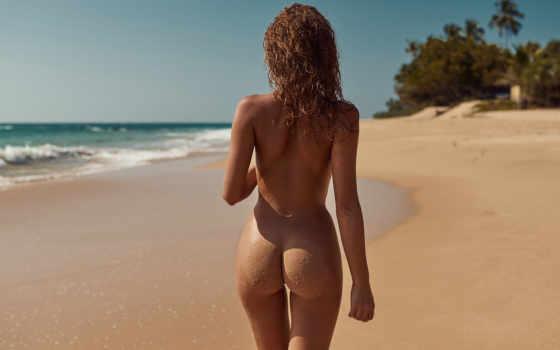 пляж, без бикини