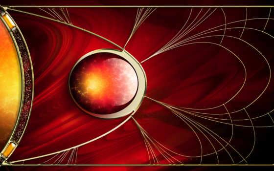 фракталы, шара, красное, abstract, внутри, рисованное, пламя, картинку, графика, desktop, fractal, minus,