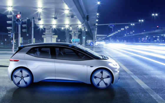 volkswagen, electric, concept, car, кар,