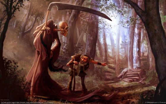 смерть, косой, лесу, смерти, но,