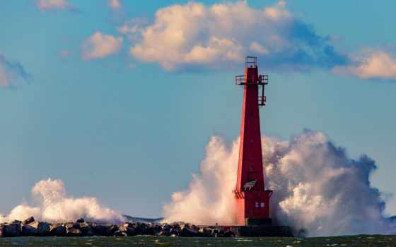 lighthouse, web,