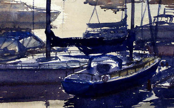 harbour watercolor