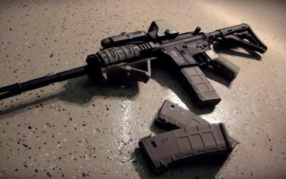 weapon, assault, автомат, картинка, обоймы, пол, gun,