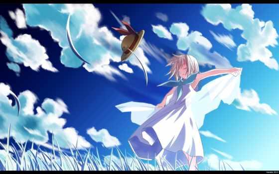 аниме, sky