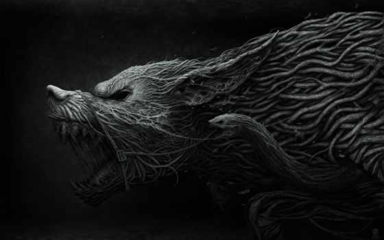 ведьмак, волк, игры, game, графика, любят,