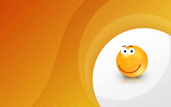смайл, смайлики, оранжевый
