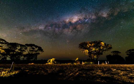 путь, млечный, небо, природа, звезды, живые, космос, apk,