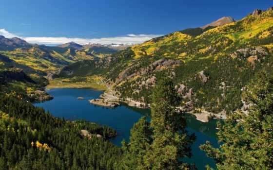 san, озеро, cristobal, juan, mountains, colorado, лес, смотреть, природа,