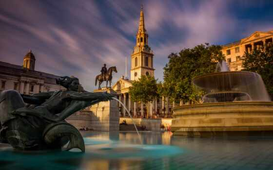 london, trafalgar, square, великобритания, площадь, architecture, country