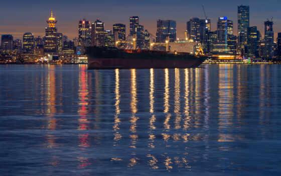 корабль, tran, mobile, ночь