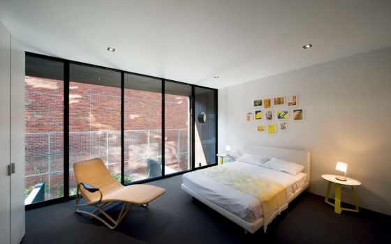 кровать, спальня, интерьер