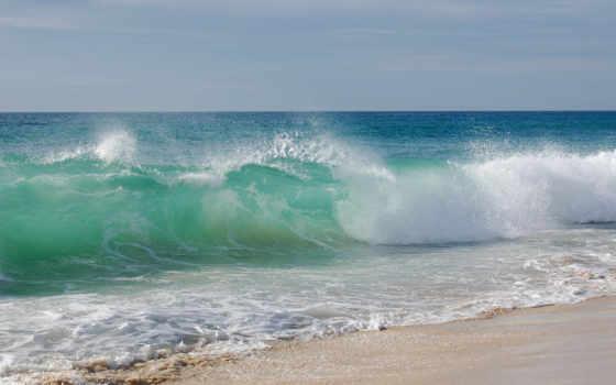 море, волны, landscape
