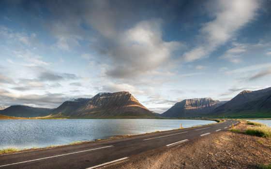 дорога, небо, гора