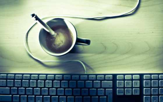 клавиатура, coffee, desk, бренд, high, apple,