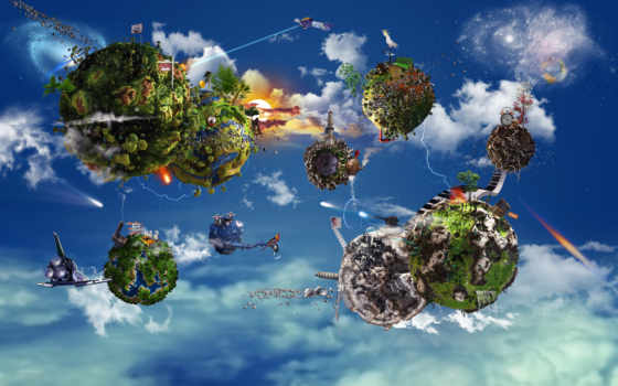 экосистема, экосистемы, structure, виды, планеты, system, мужчина, экосистем, черепаха, oblaka, concept,