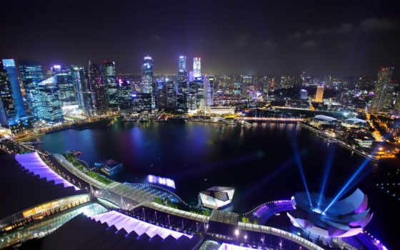 singapore, город, bay, марина, sands, заставки,