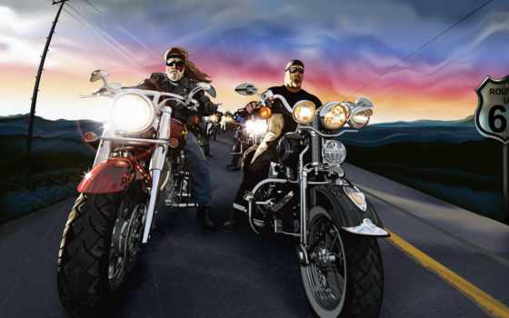 вектор, мотоцикл, байкеры, дорога, sign, мотоциклы, bike,