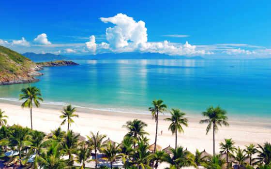 пляж, hotel, остров