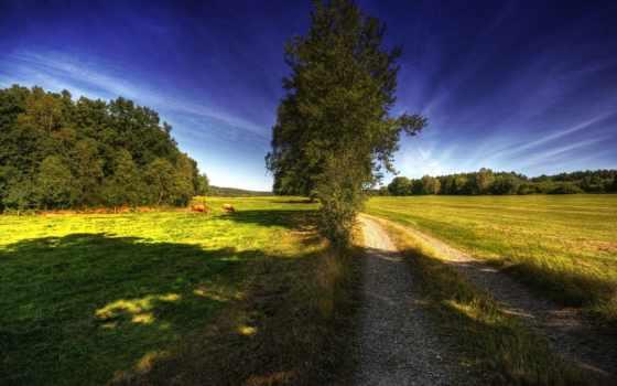 landscape, деревня, природа, пейзажи -, фотографий, hdri, full, magnificent,