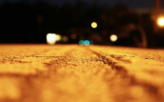 дорога, ночь, side, свет, дорогой, makryi, effect
