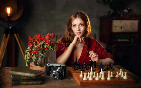 chess, женщина, доска, game, фотоаппарат, цветы, модель, олег, astrologer, tehnika, persian