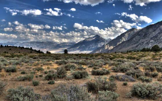 гора, prairie, white, природа, landscape, пустыня, небо, облако, красивый, фото