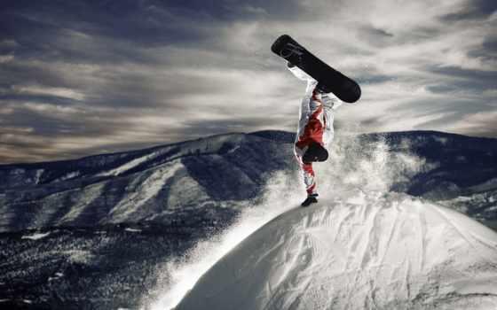 снег, сноуборд Фон № 21965 разрешение 1920x1080