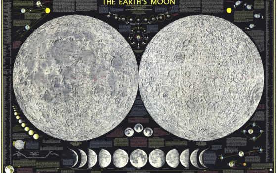 moon, map