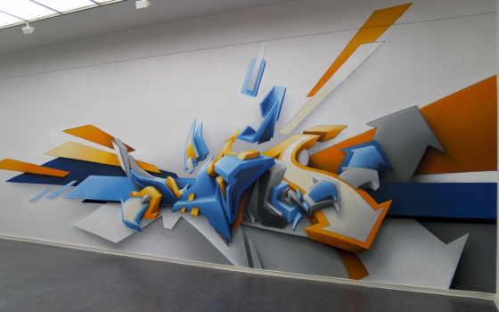 рисунок, graffiti, стена